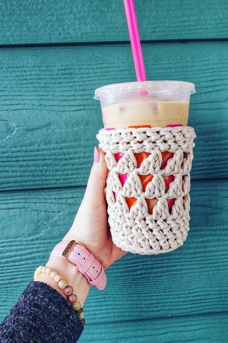 Mila Coffee Cozy - Cup Cozy Crochet Pattern - Coffee Cozy Crochet Pattern - Digital Download - PDF Download