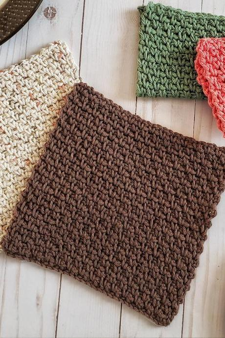 Camden Dish Cloth Crochet Pattern - Digital Download - Crochet Pattern - PDF Download - Crochet Dish Cloth