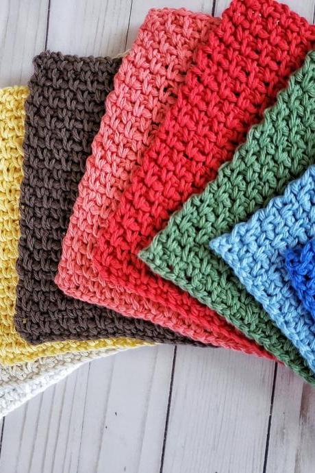 Camden Dishcloth - Cotton Dishcloth - Crochet Dishcloths - Dishcloths - Colorful Dishcloths - Crochet Dishcloth
