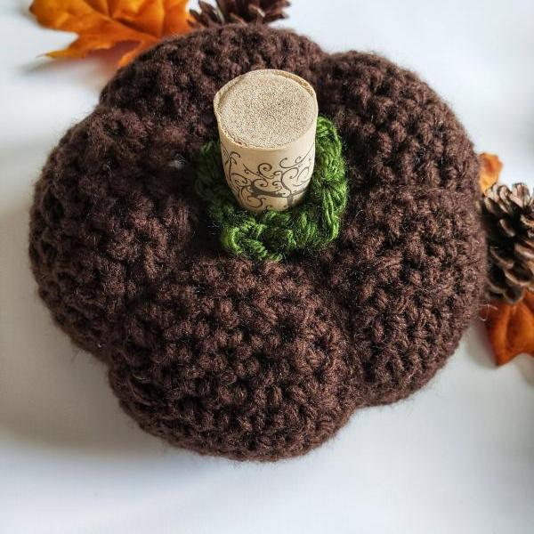 Crocheted Pumpkin - Handmade Pumpkin - Fall Decor - Home Decor